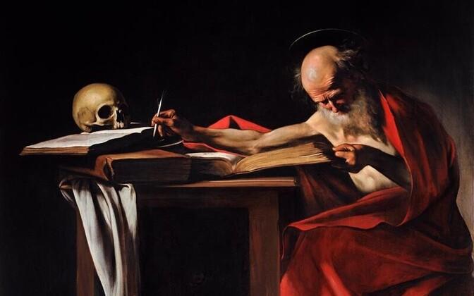 Caravaggio õlimaal (1605-1606) pühast Hieronymusest. Tõlkijad ja raamatukoguhoidjad peavad teda, vanarooma kirikuisa ja õpetlast, kes tõlkis piibli heebrea keelest ladina keelde, oma kaitsepühakuks.