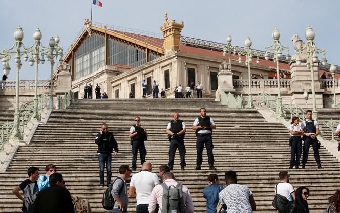 Prantsuse politseinikud Marseille's 1. oktoobril.