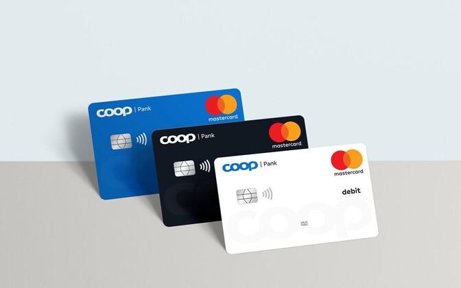 Coop Pank bank cards.