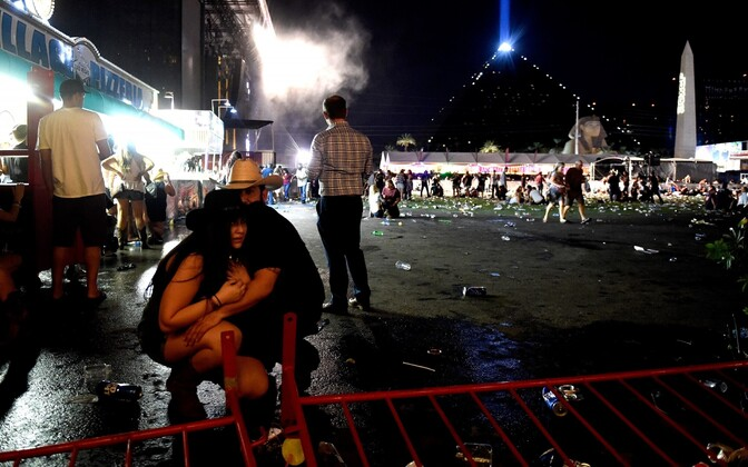 Following the mass shooting at a country festival in Las Vegas on Sunday night. Oct. 1, 2017.