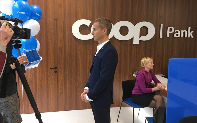 Coop Bank CEO Margus Rink at a Coop Pank branch.