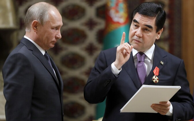 Putin ja Berdimuhammedow.
