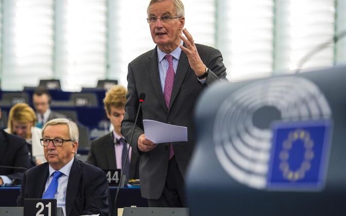 Euroopa Liidu pealäbirääkija Michel Barnier 3. oktoobril europarlamendis.
