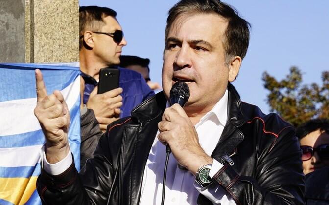 Михаил Саакашвили на встрече со своими сторонниками в Одессе 30 сентября.