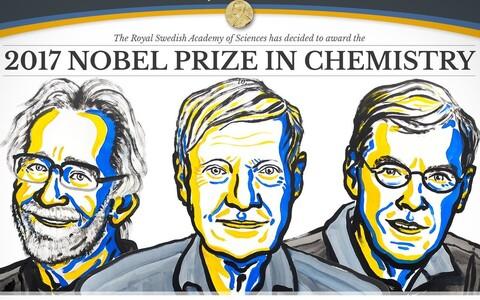 Jacques Dubochet, Joachim Frank ja Richard Henderson.