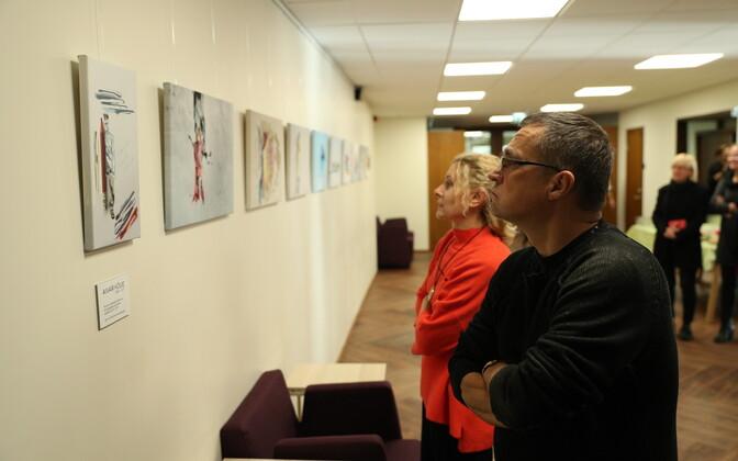 Aivar Kõue tööde näituse avamine.