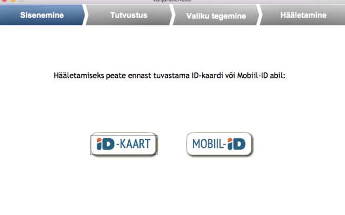 The voting app you need to download is available in Estonian only.