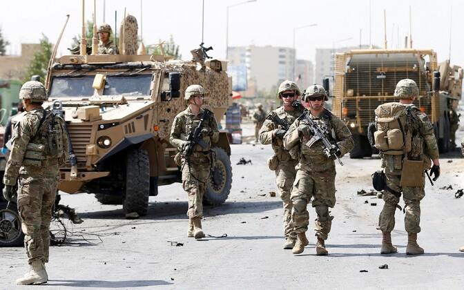 USA ja NATO liitlaste sõdurid septembris Kabulis.