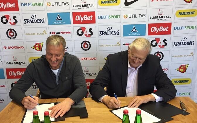Тийт Сокк и Яак Салуметс договорились о продлении сотрудничества.