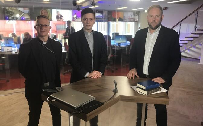 Urmas Vaino, Kristjan Luhamets ja Tauno Toompuu.