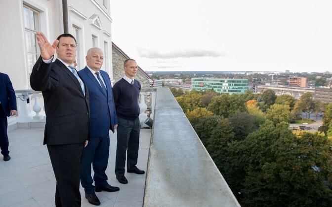 Премьер-министр Эстонии Юри Ратас, первый зам премьер-министра Республики Беларусь Василий Матюшевский, и вице-премьер Украины Степан Кубив.