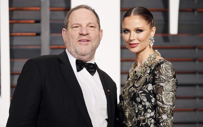 Harvey Weinstein oma naise Georgina Chapmaniga, kes on teatanud, et jätab mehe maha.