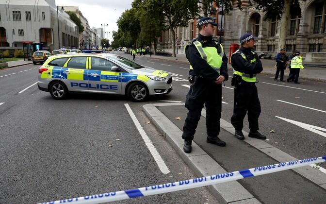 В центре Лондона автомобиль выехал на тротуар, в результате чего пострадали несколько человек.