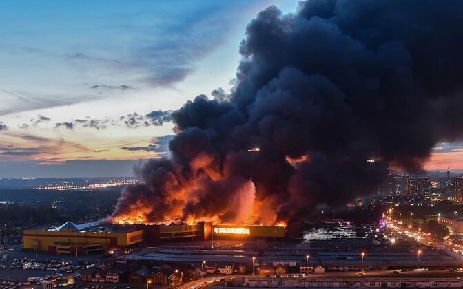 Tulekahju Moksva kaubanduskeskuses