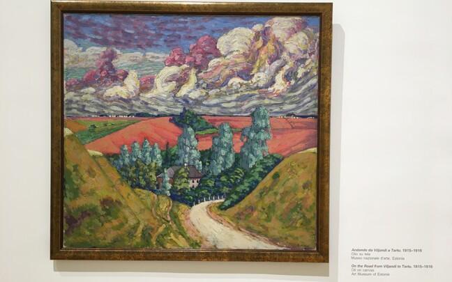 Выставка картин Конрада Мяги в Риме.