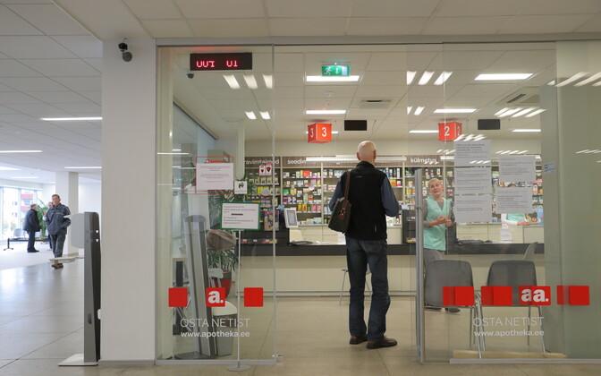 Apteek Tallinna kaubanduskeskuses.