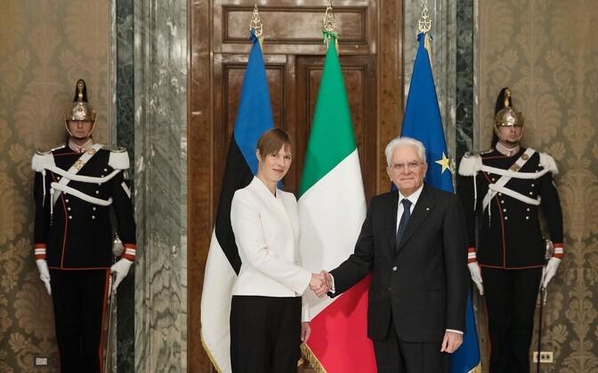 Eesti president Kersti Kaljulaid ja Itaalia president Sergio Mattarella 9. oktoobril Roomas.