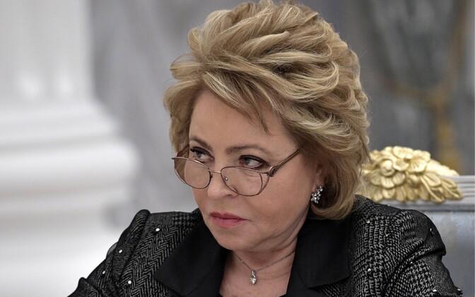 Спикер Совета Федерации РФ Валентина Матвиенко.