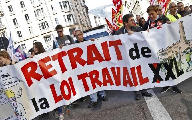 Tõõturureformi vastane streik Prantsusmaal käesoleva aasta septembris.