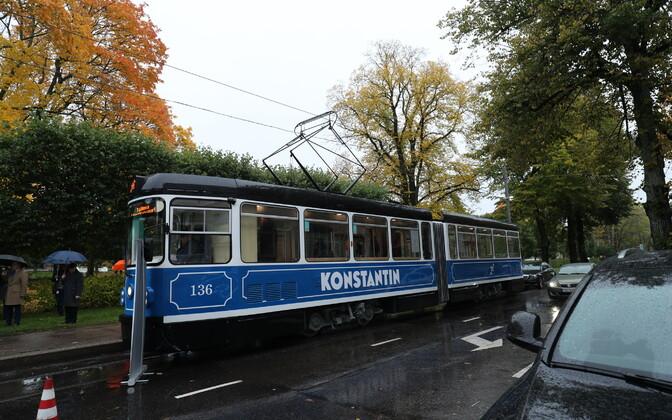 10 октября на маршрут №3 в Таллинне вышел ретротрамвай