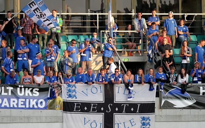 Сборная Эстонии по футболу редко играет при аншлагах.