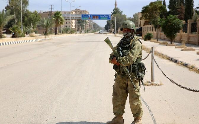 Vene sõdur Süürias.