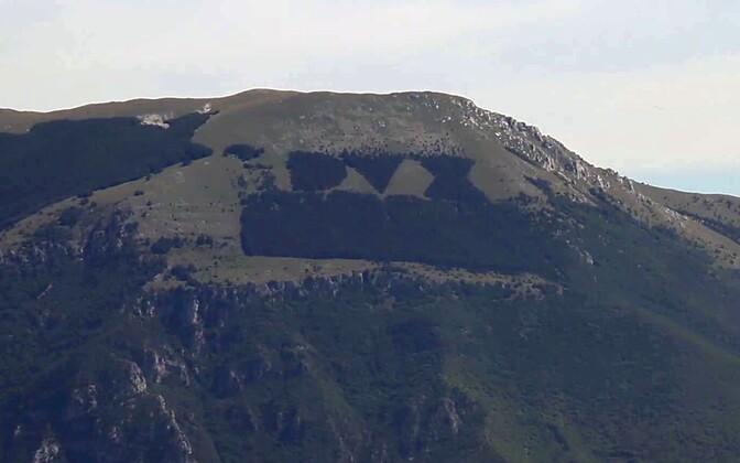 Monte Giano nõlv enne põlengut koos