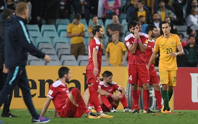 Футболисты сборной Сирии расстроены поражением