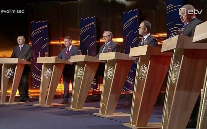 Tartu esinumbrite valimisdebatt.