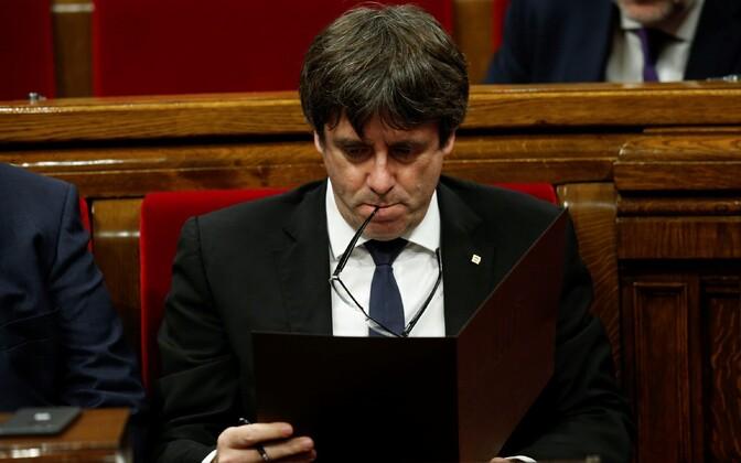 Бывший глава Каталонии Карлес Пучдемон.