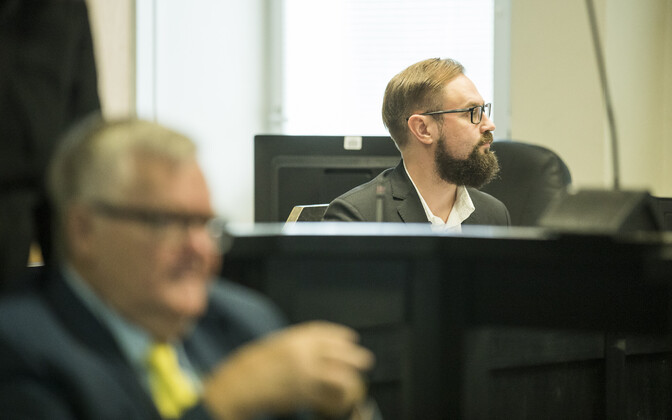 Chief State Prosecutor Steven-Hristo Evestus in the courtroom during the Savisaar trial.