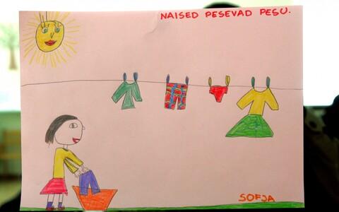 Mardi Lasteaia laste joonistused soorollidest erinevates ametites.