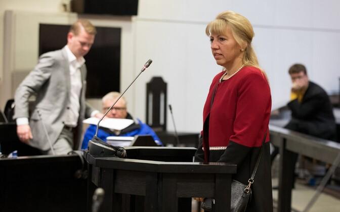 Карин Таммемяги в зале суда.