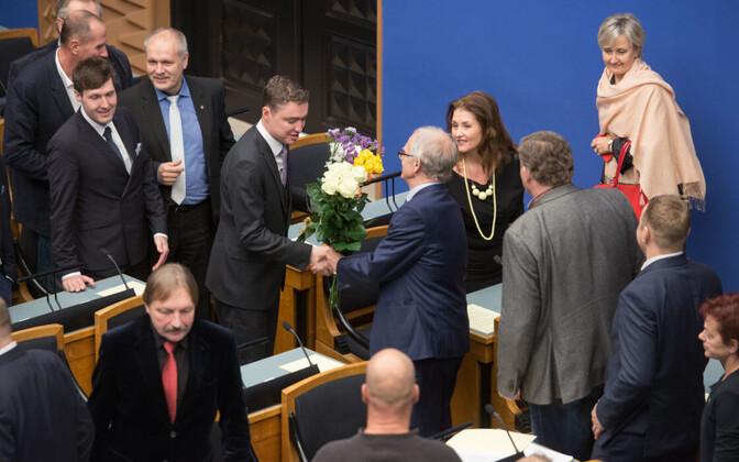 Taavi Rõivas pärast riigikogu aseesimeheks valimist.