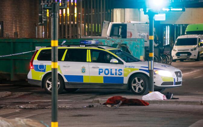 Rootsi politsei sündmuskohal.