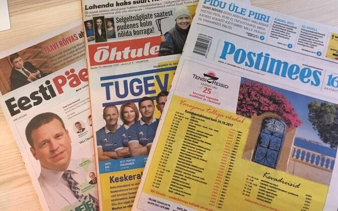 Estonia's three national dailies (picture is illustrative).