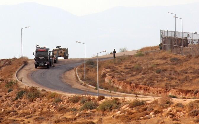 Türgi armee sõidukid Idlibi provintsis Adme küla lähistel 11. oktoobril.