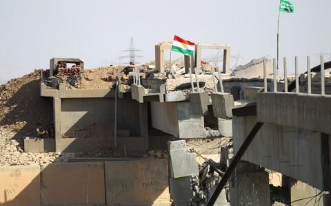 Kurdistani sõdurite kaitsepositsioon Kirkuki lähistel.
