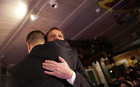 Center Party chairman Jüri Ratas and candidate for mayor Taavi Aas.