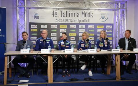 Tallinna Mõõga pressikonverents ERR-i uudistemajas.