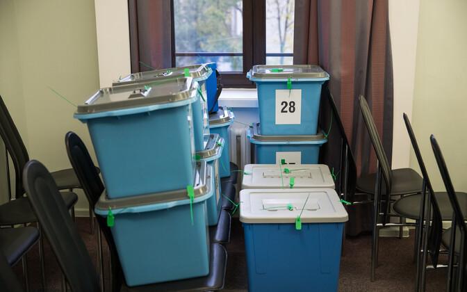 Подсчет голосов в Таллинне.