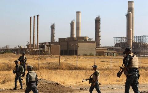 Iraagi sõdurid Kirkuki lähistel.