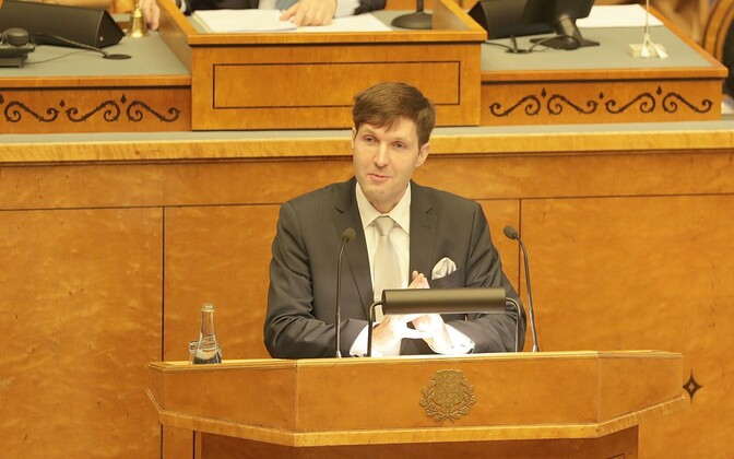 Martin Helme, speaking in the Riigikogu before his party's latest anti-cohabitation bill was voted down, Oct. 17, 2017.