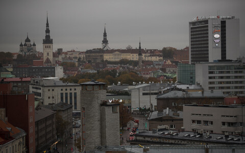 At around midday Tallinn was as dark as if it were already late afternoon.