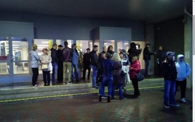 Забастовка в Раквере.