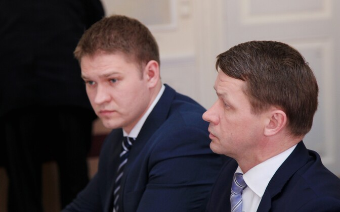 Tartu deputy mayors Artjom Suvorov (left) and Valvo Semilarski were arrested on Oct. 18, 2017.
