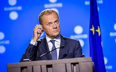 Donald Tusk 29. septembril Tallinnas.
