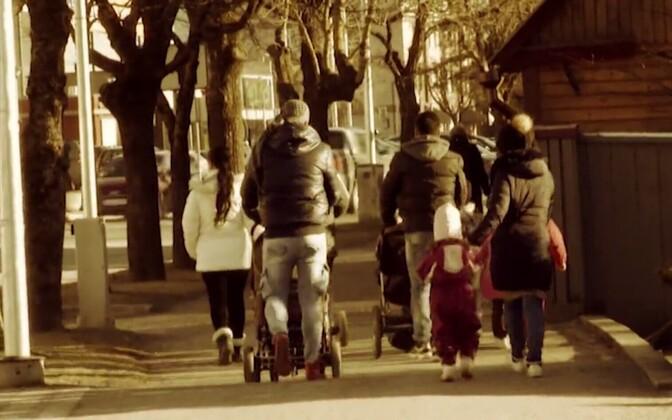 War refugees in Haapsalu (photo is illustrative)