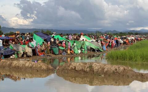 Birmast põgenenud rohingja põgenikud Bangladeshis.