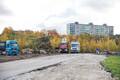 Строительство парковки в Торупилли.